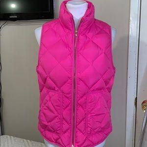 J.crew hot pink vest